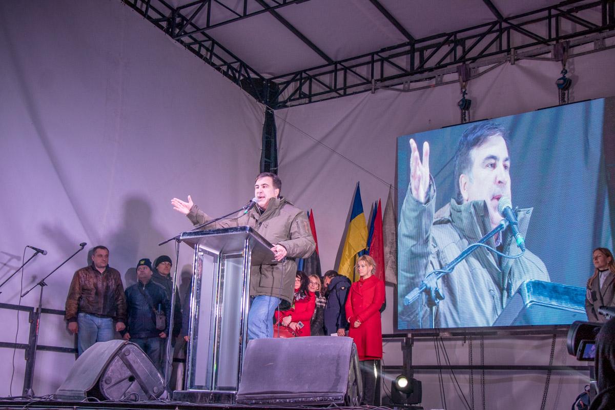 Михаил Саакашвили озвучил дальнейший план протестующих