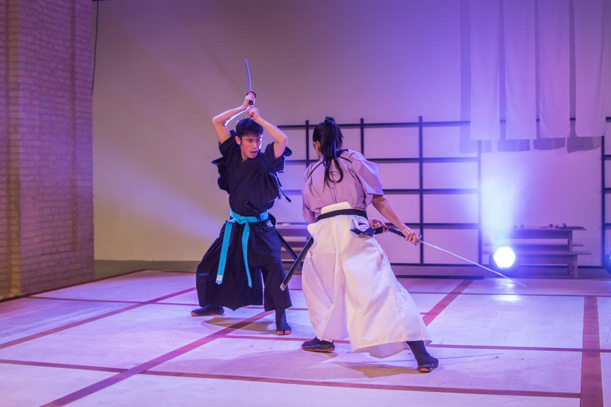 Перфоманс от японских самураев в действии