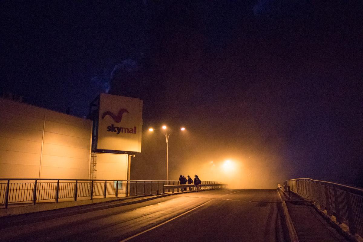 Дым от пожара виден еще на проспекте Шухевича