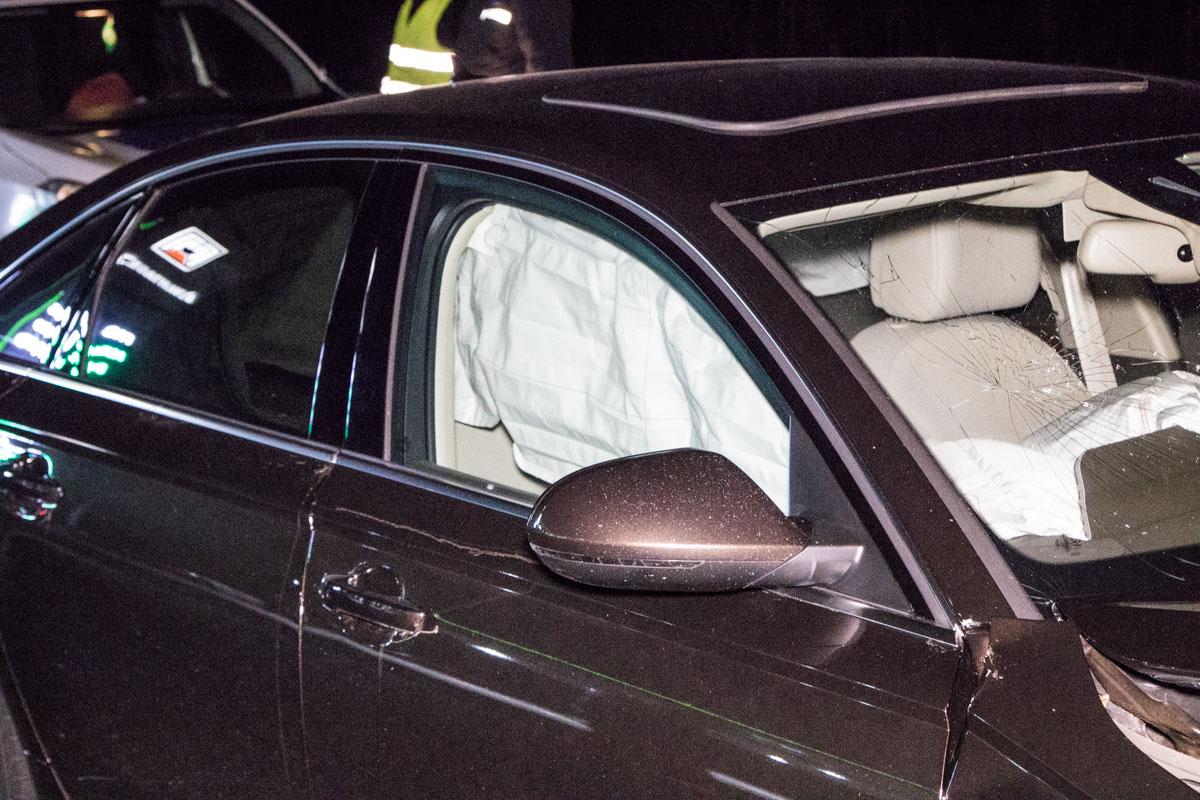 В машине сработала подушка безопасности