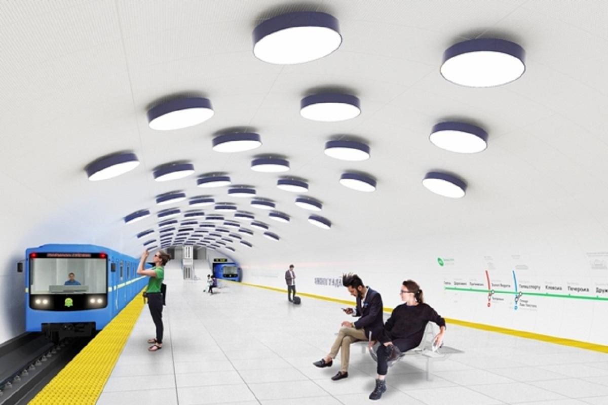 "На станции ""Виноградарь"" становят 90 фонарей похожих на виноград, для ассоциации с названием станции метро"