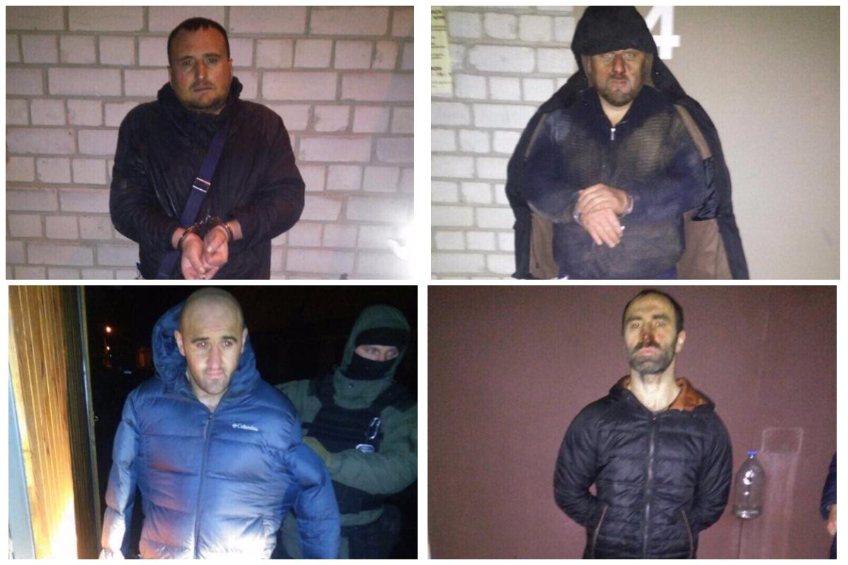 Задержанные грузины, похитившие 3,5 миллионов гривен