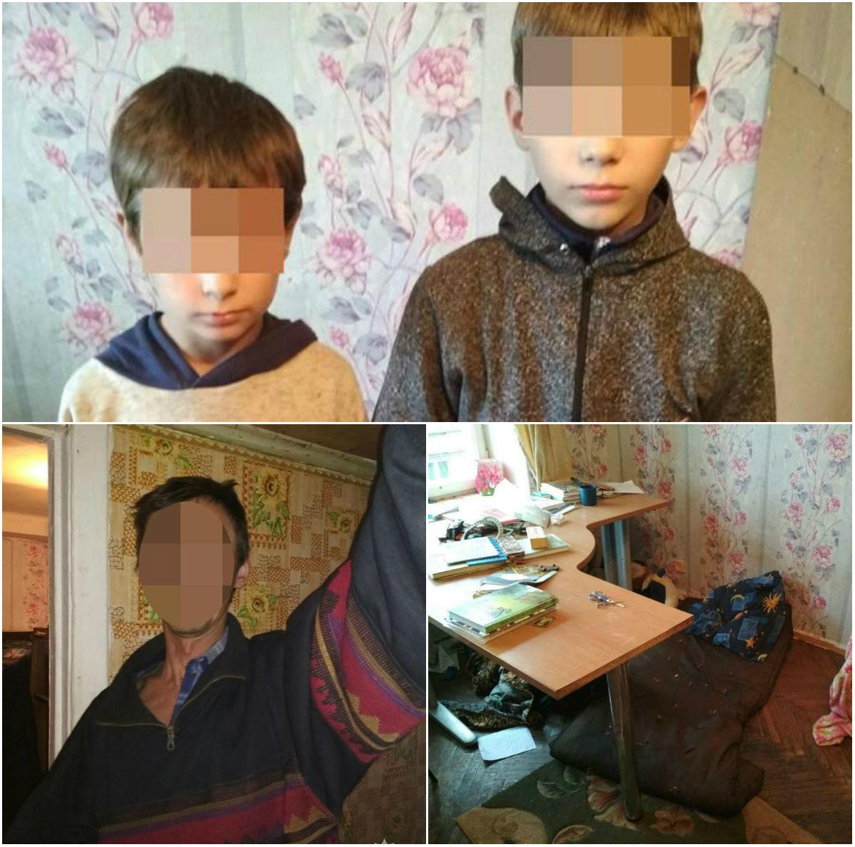 В квартире находились двое несовершеннолетних детей и отец, который был пьян