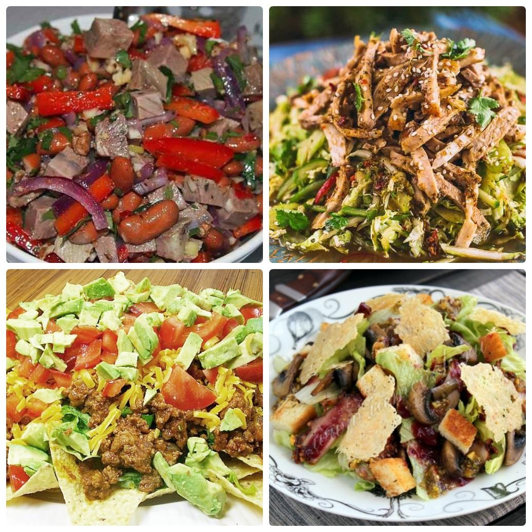 Не забудьте и о салатах с мясом