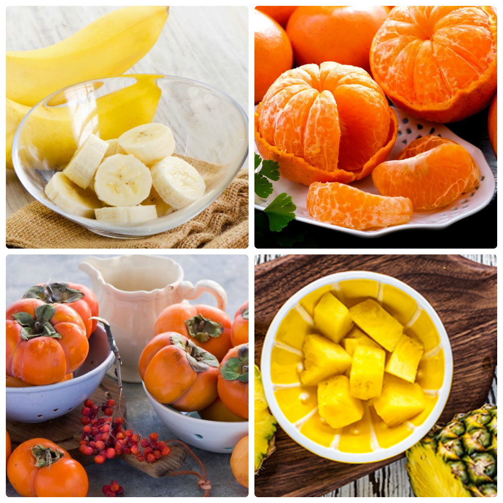 Не забудьте, что фрукты должны быть оранжевого и желтого цветов
