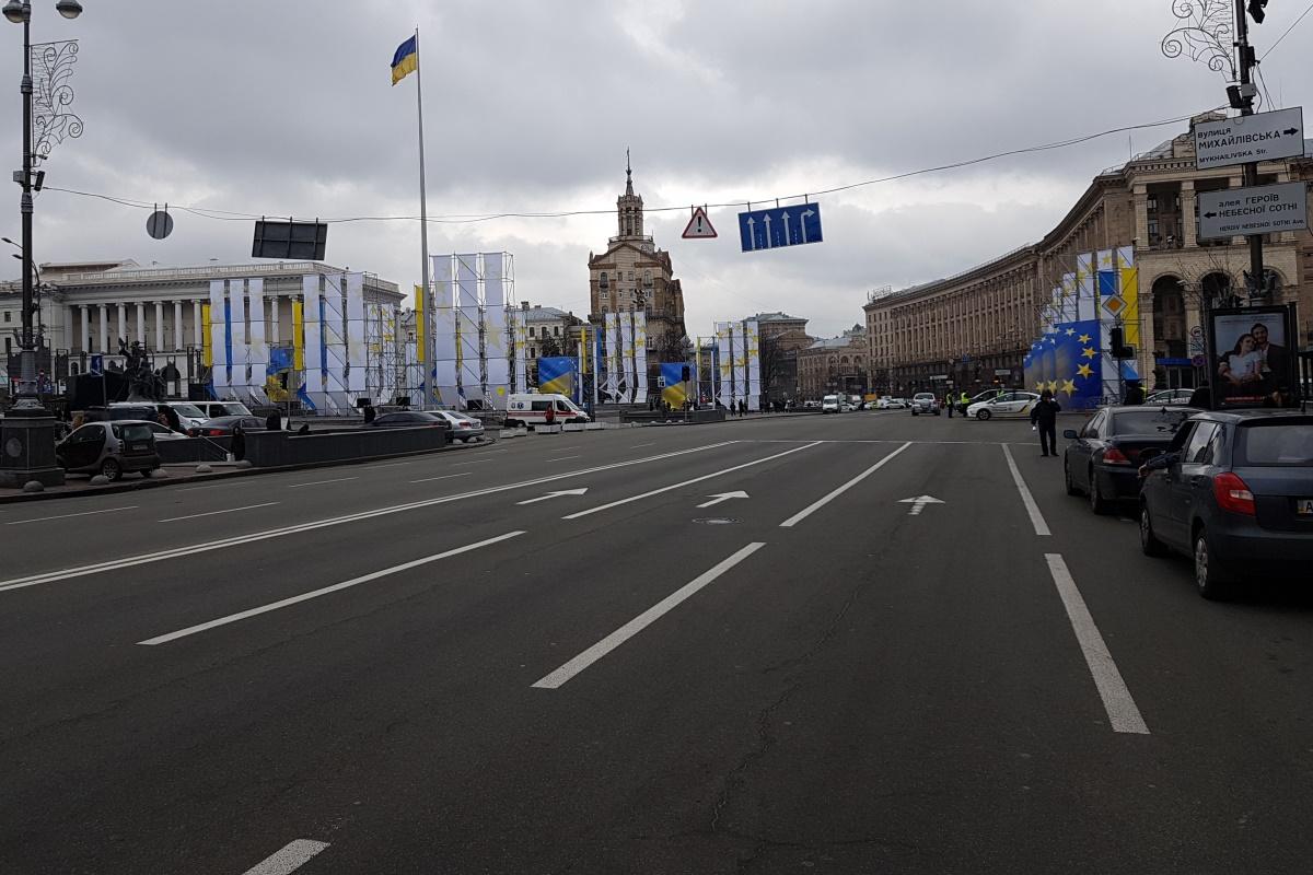 Задержание Саакашвили: Крещатик перекрыт