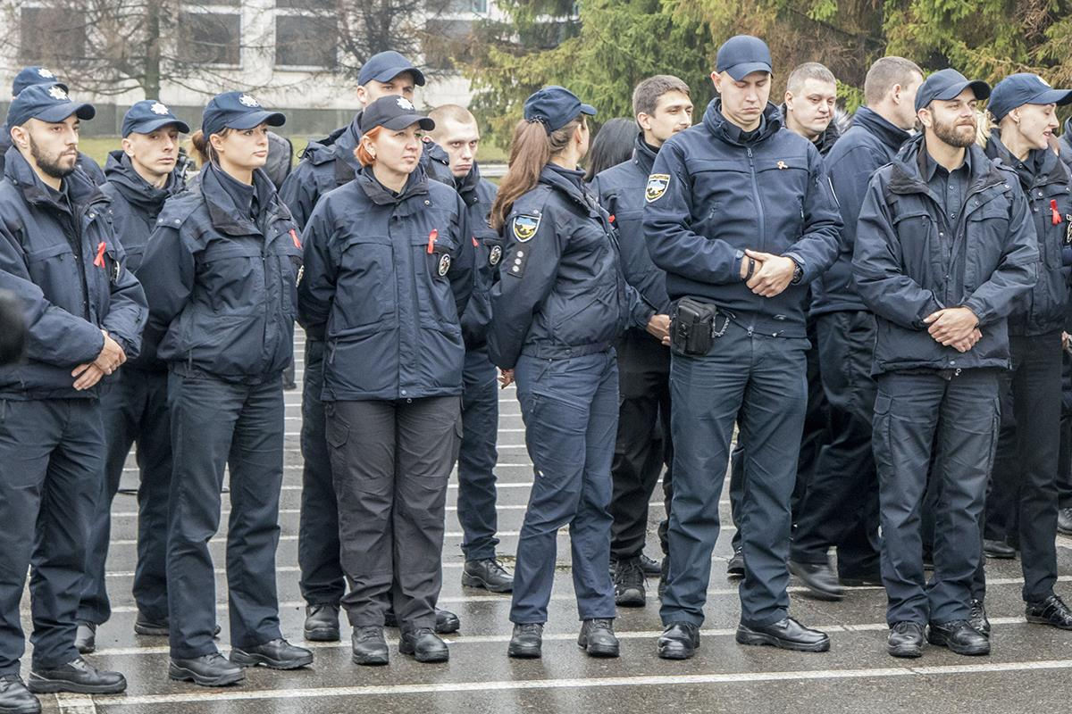 Столичные патрульные первыми среди правоохранителей Украины провели такую акцию