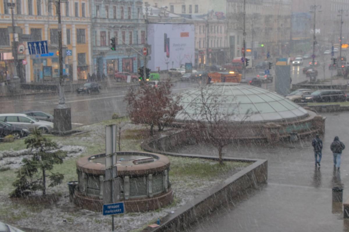 Киев в один момент стал по-настоящему зимним