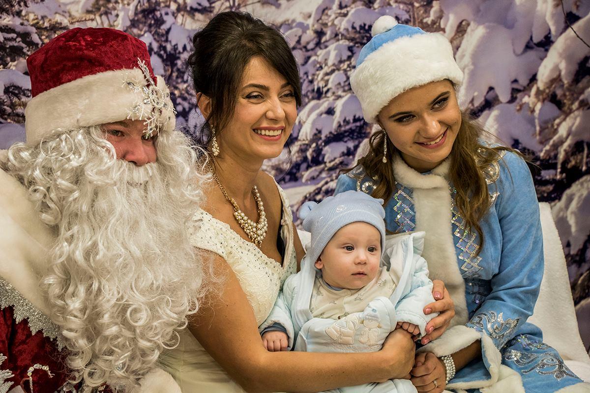 Мамы малышей также с удовольствием делали совместное фото