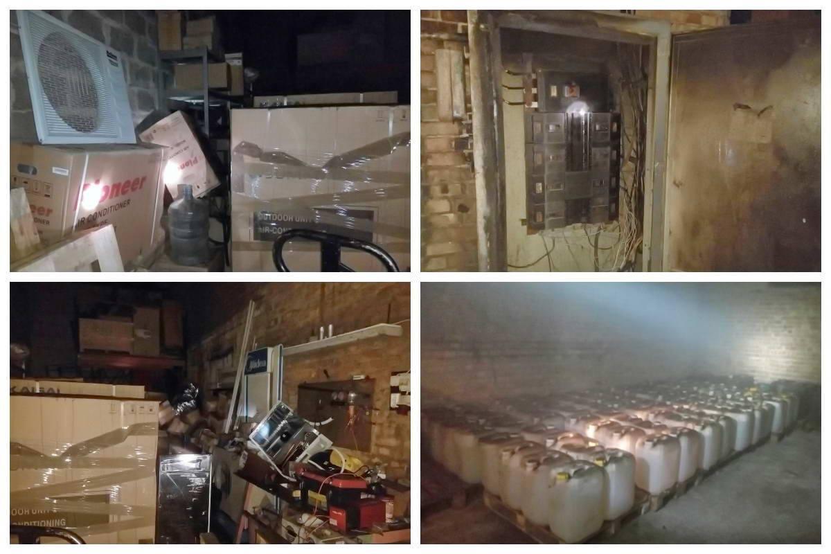 Была угроза распространения огня на соседнее помещение, гдехранится соляная кислота