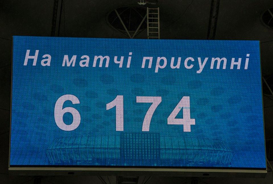 На матч пришли более 6 тысяч болельщиков