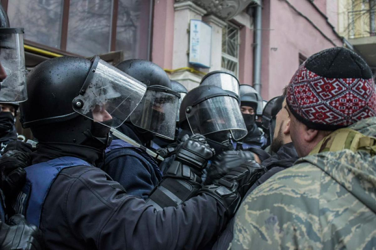 Стычка между правоохранителями и защитниками Саакашвили
