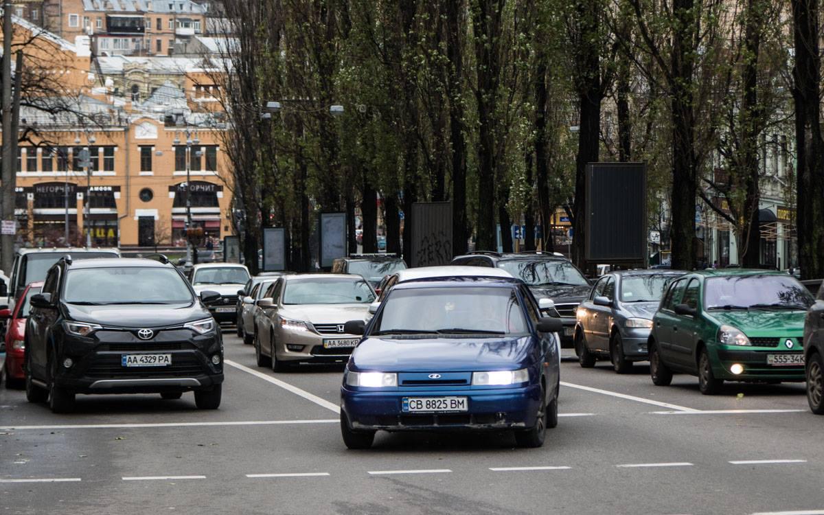 Из-за ДТП на бульваре Шевченко со стороны Бессарабки образовалась пробка