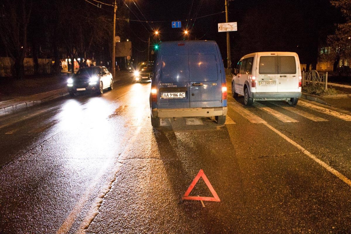 ДТП произошло на улице Вышгородская