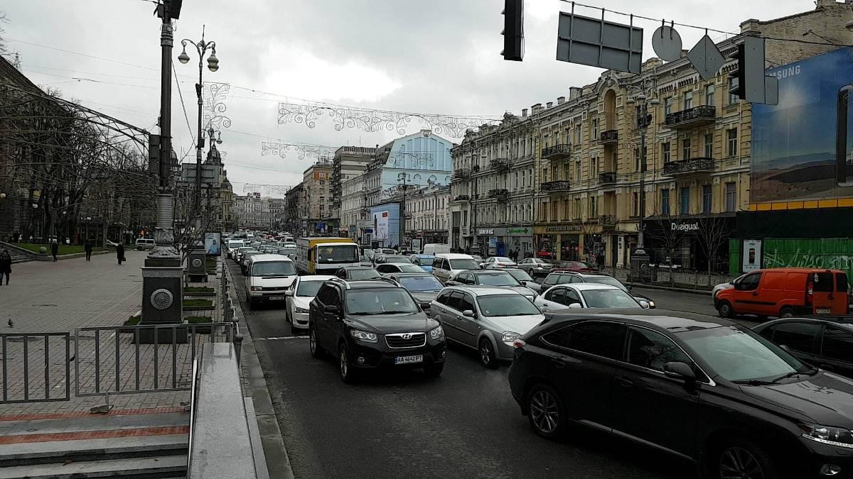 Из-за задержания Саакашвили люди теперь томятся в пробках