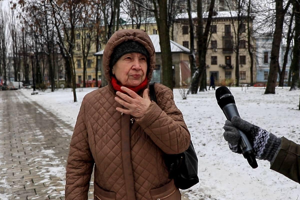 По мнению пенсионерки из Киева, нынешний Саакашвили - ненастоящий