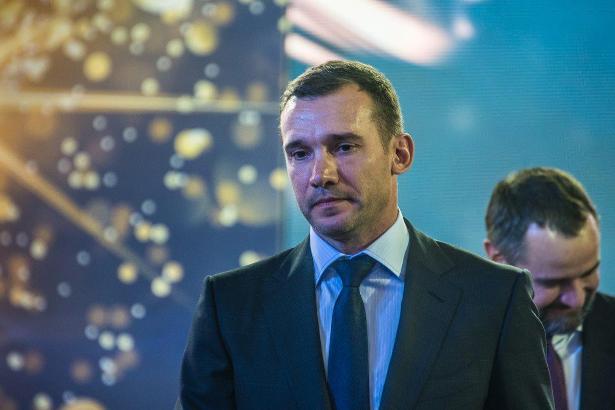 На церемонии присутствовал главный тренер Национальной сборной Украины Андрей Шевченко