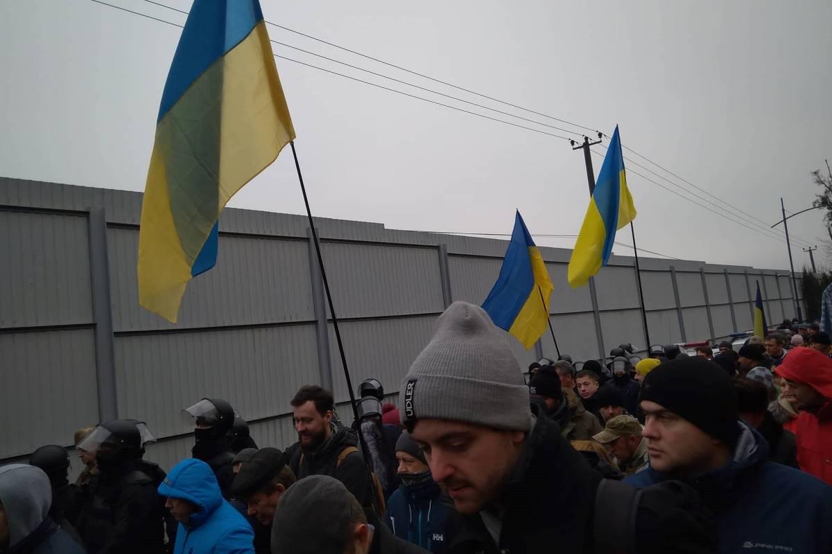 Кдому генерального прокурора Украинского государства пришли сотни протестующих