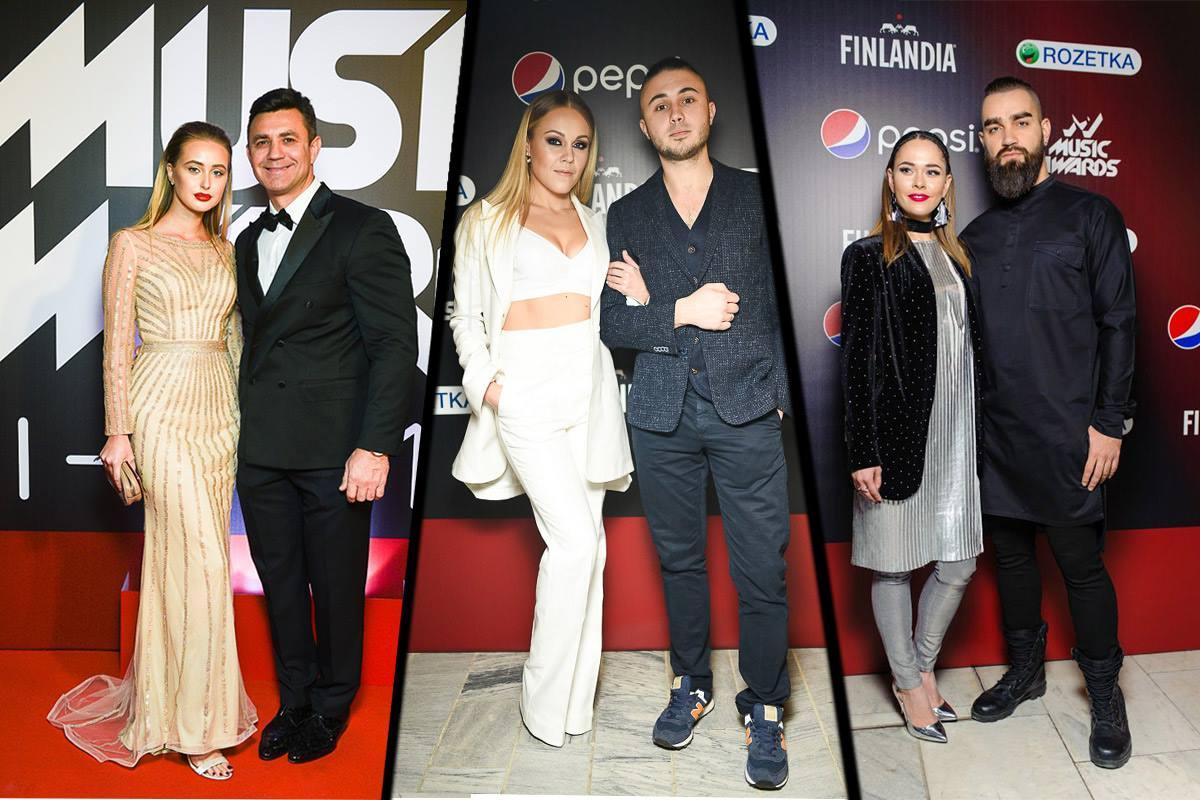 Николай Тищенко с женой Аллой Барановской, ALYOSHA с мужем Тарасом Тополей и группа The Hardkiss