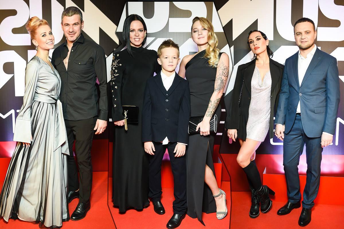 Нина Матвиенко с мужем Арсеном Мирзояном, Ирина Горовая с детьми, Анастасия Кумейко и Руслан Квинта