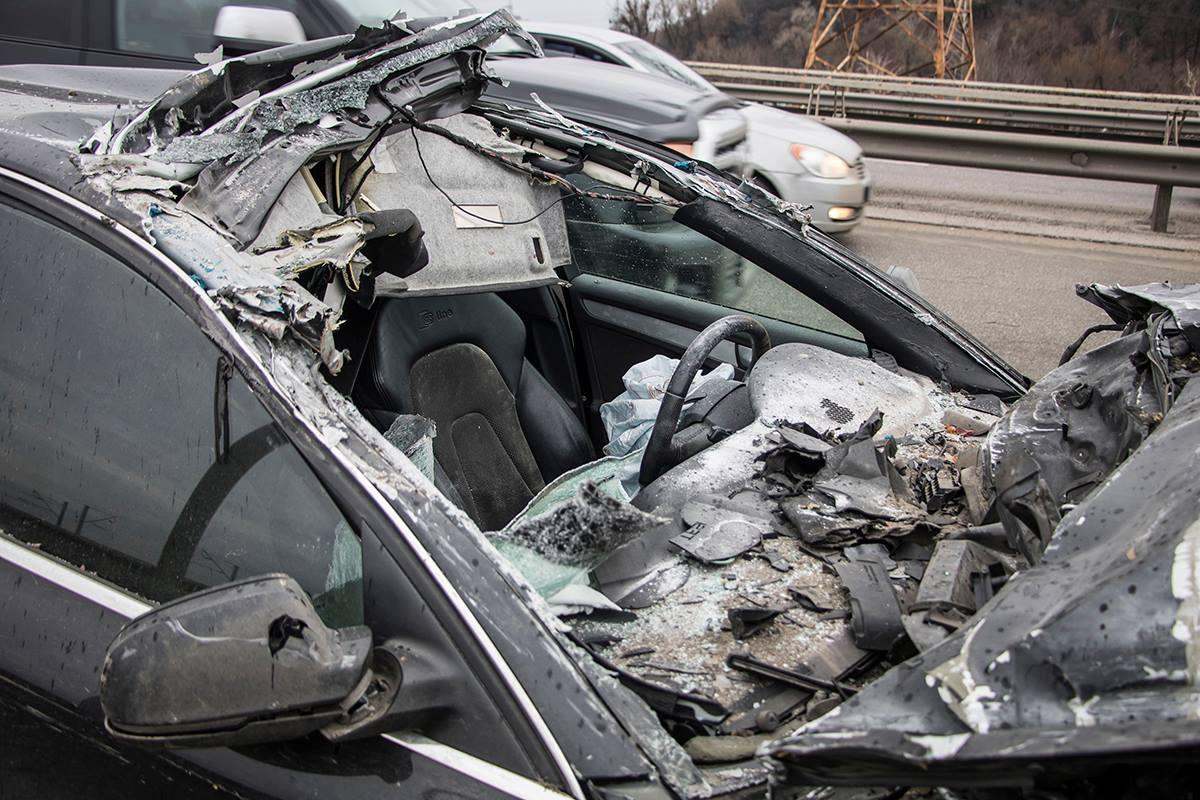 Девушка-водитель не пострадала