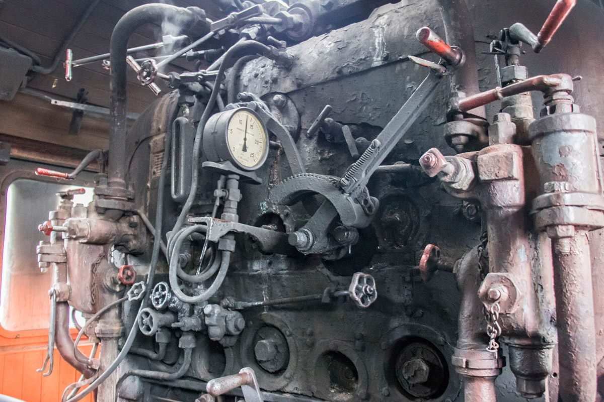 Так выглядит одна из кабин поезда изнутри