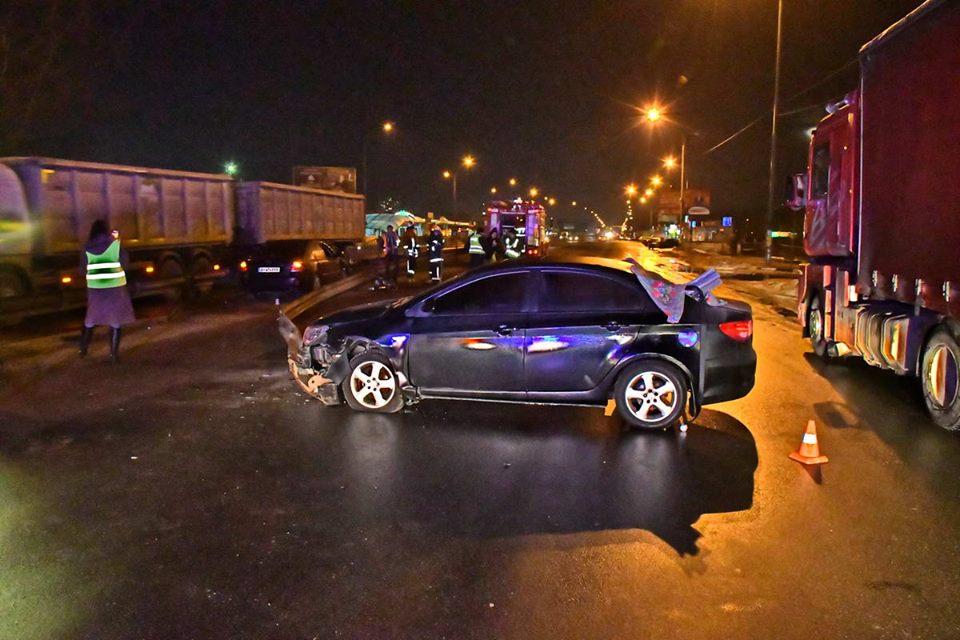 ДТП произошло на Броварском проспекте