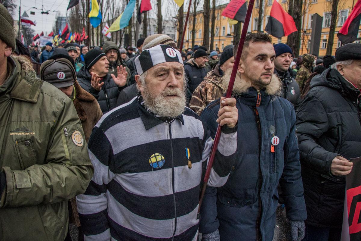 На марш собрались жители почти всех областей Украины