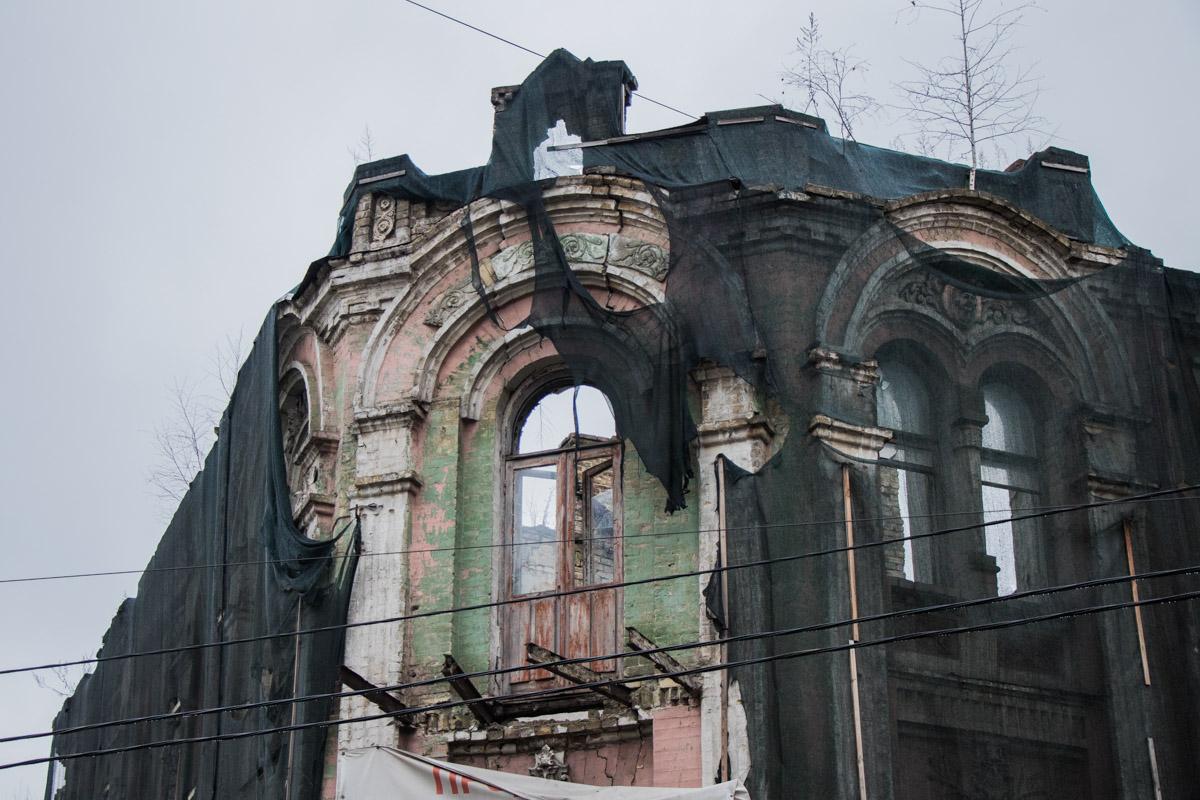 Горевший дом является исторической памяткой