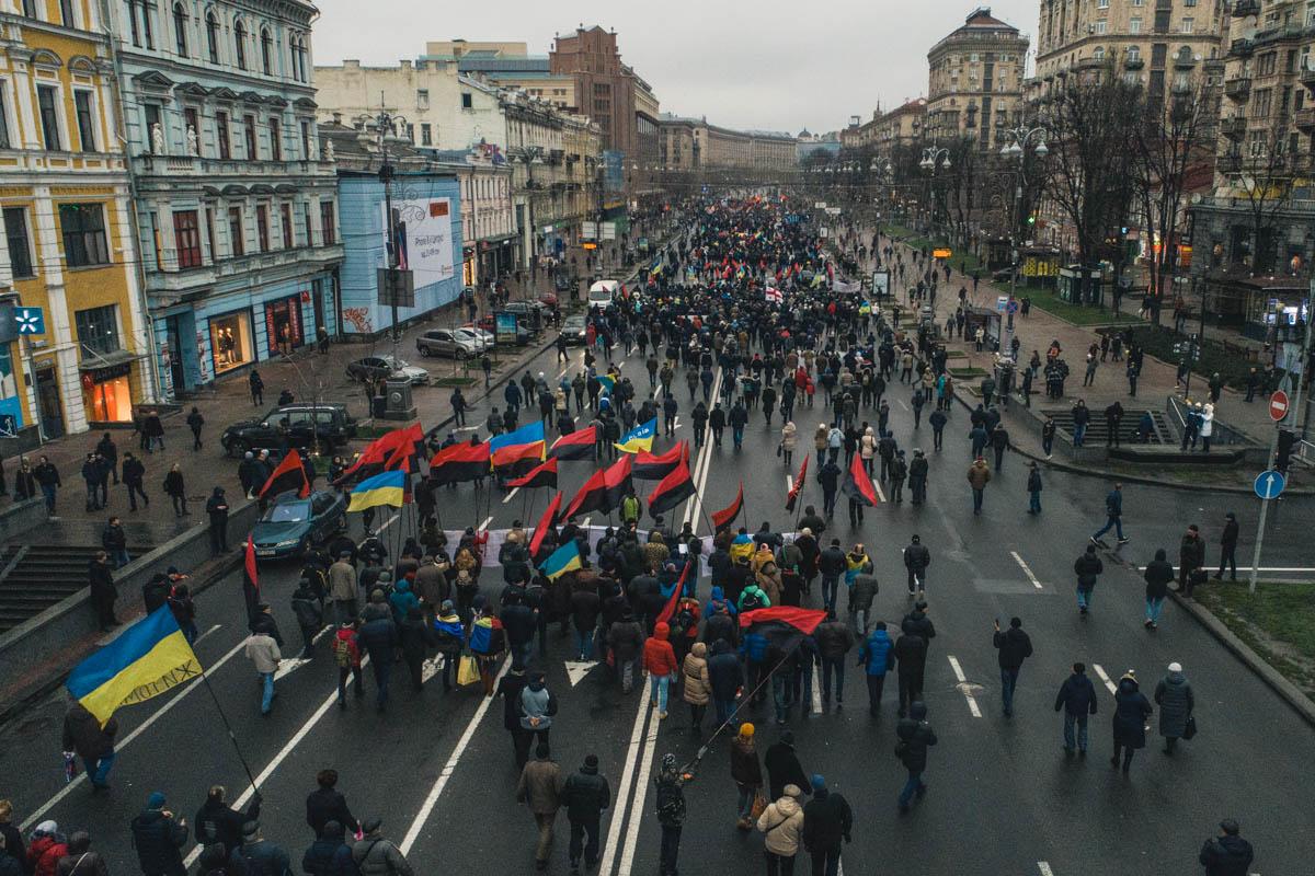 Митингующих не остановила сырая погода и дождь