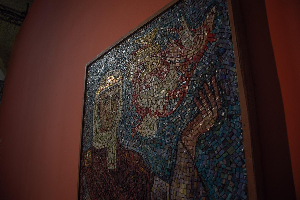 На выставке можно увидеть удивительные мозаики