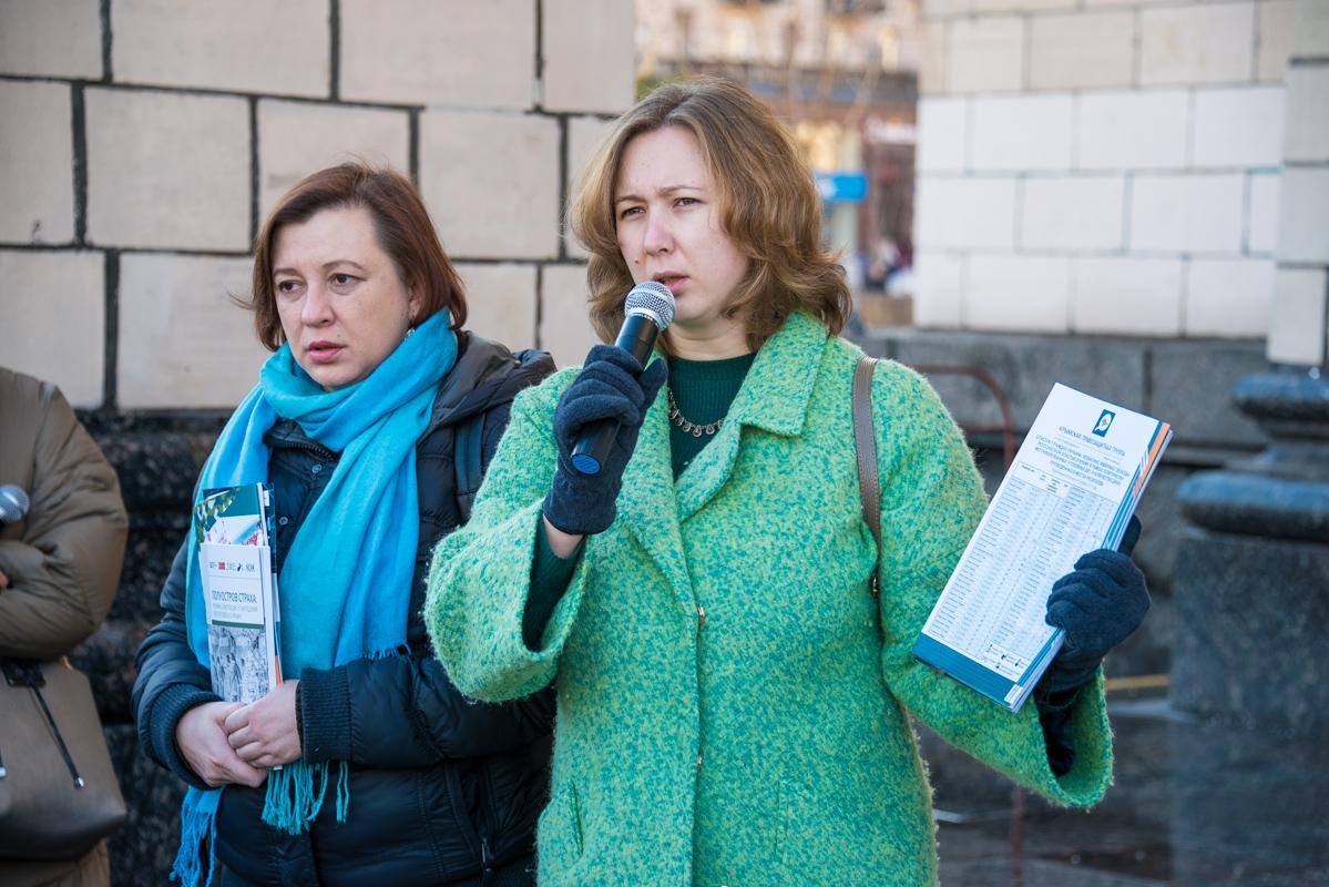 На акции выступили несколько активистов по правам человека