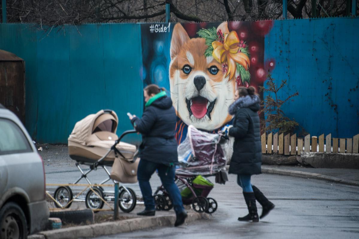 Многие жители Деснянского района уже оценили новое граффити
