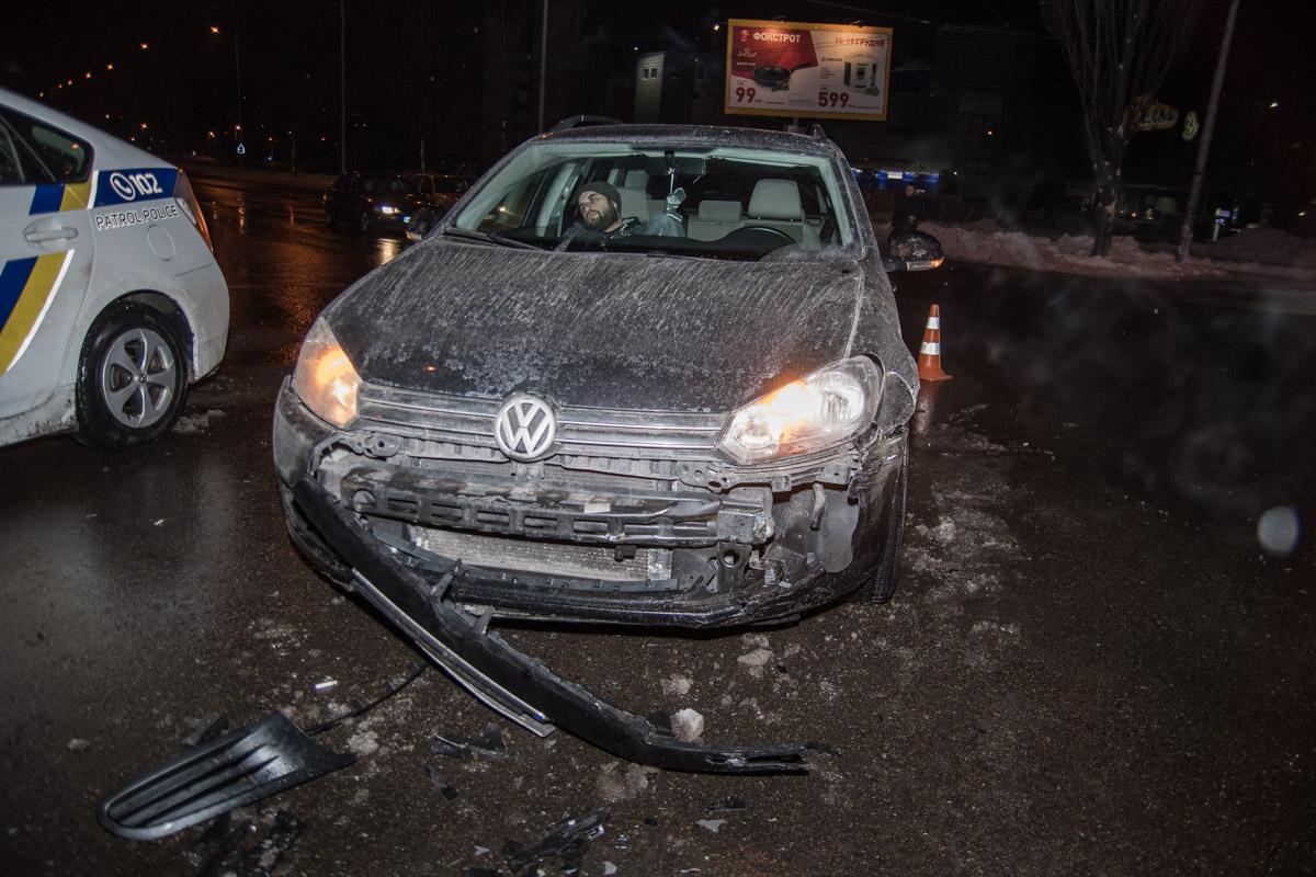 Volkswagen потерял бампер