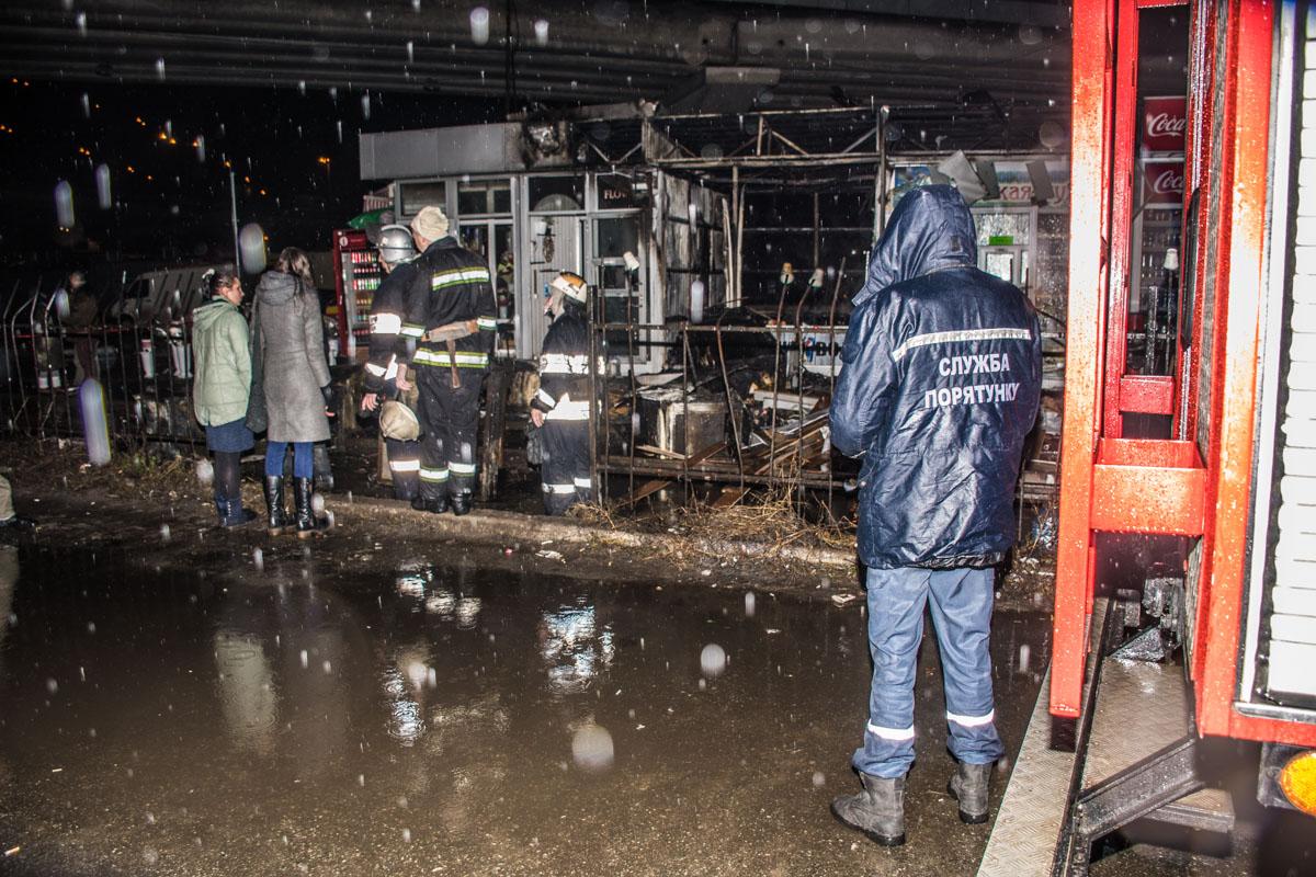 ВКиеве около  автостанции загорелись МАФы