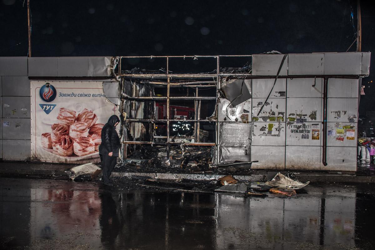 Огонь полностью уничтожил МАФ