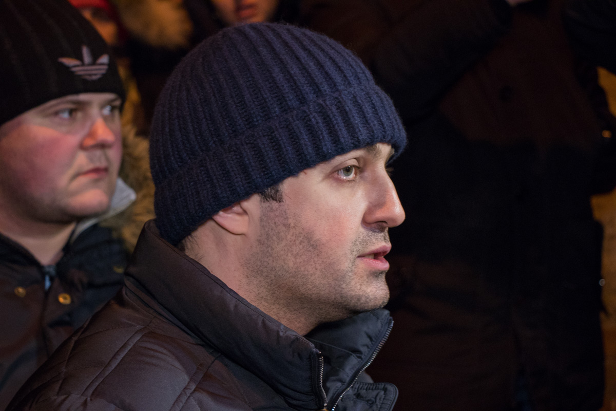 Собираться у здания СБУ призвал Давид Сакварелидзе