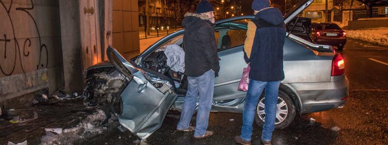 авария skoda octavia в декабре