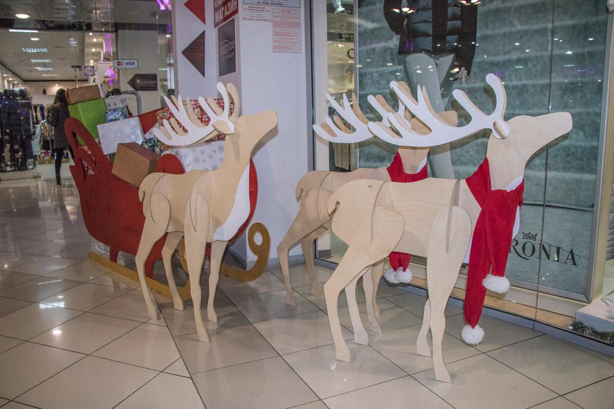 Рождественские 2D-олени