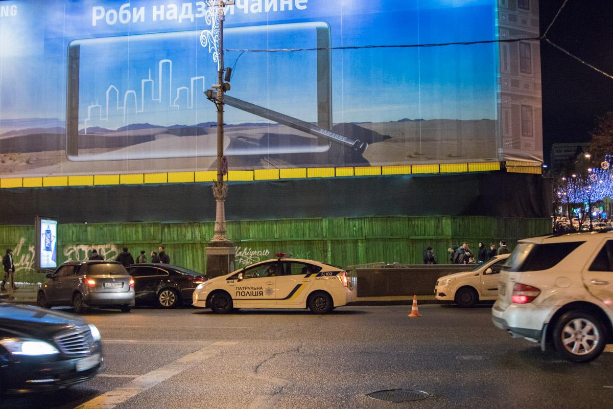 ДТП произошло в центре Киева возле ЦУМа