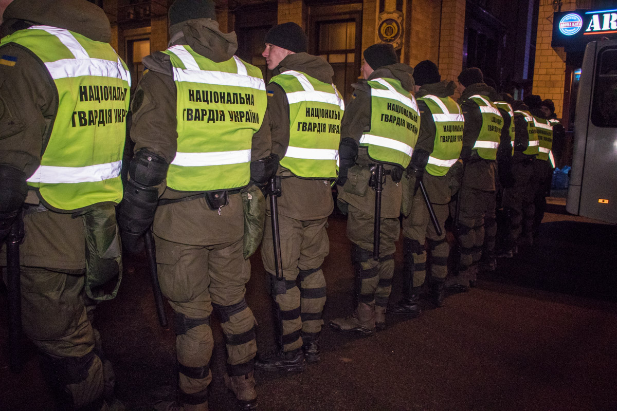 На Майдане дежурила Национальная гвардия