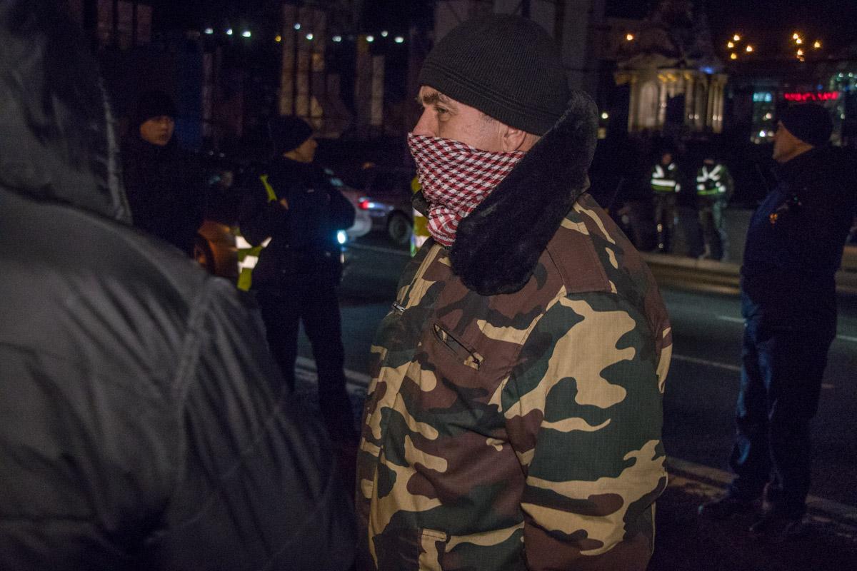 Некоторые активисты прятали свои лица