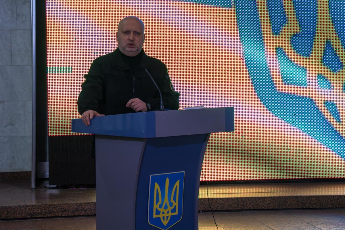 Также выступил Секретарь Совета национальной безопасности и обороны Украины Александр Турчинов