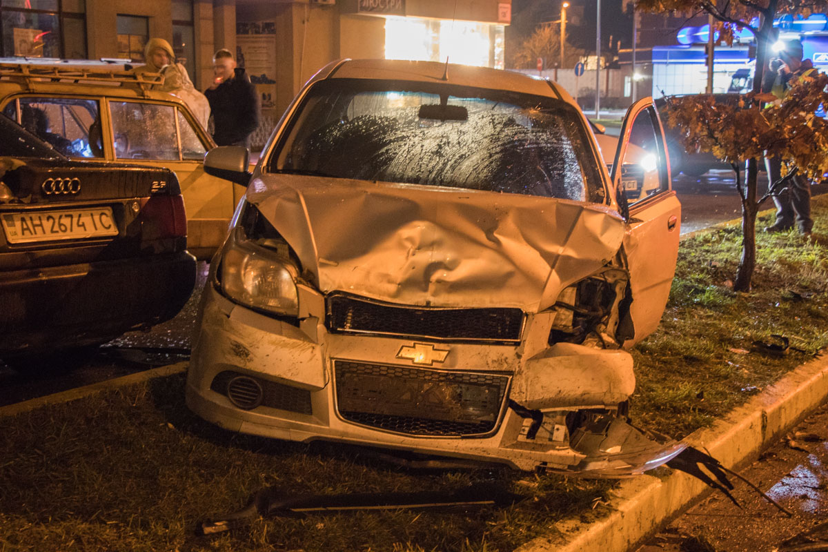 На удивление водитель не пострадал