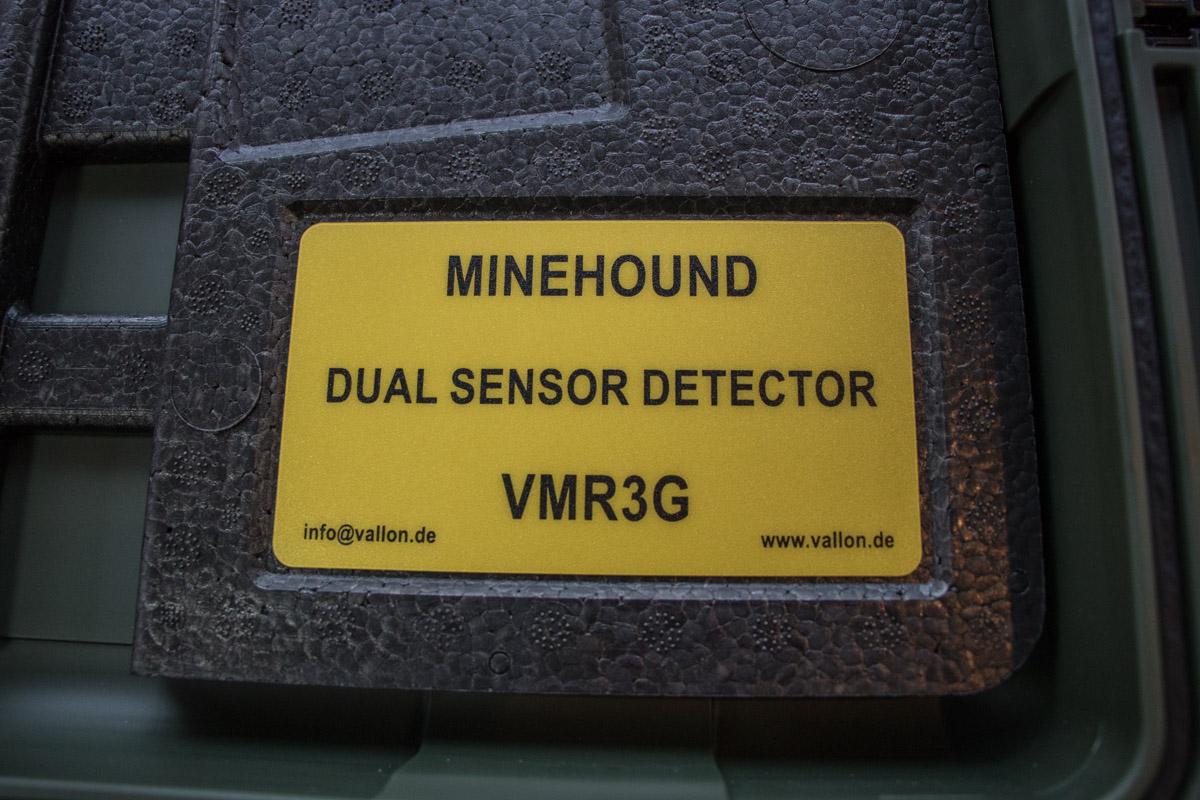 Табличка на одном из детекторов