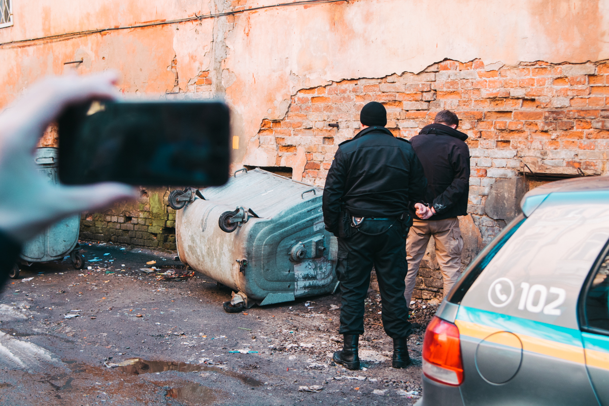 Нападавшие пытались убежать от полицейских