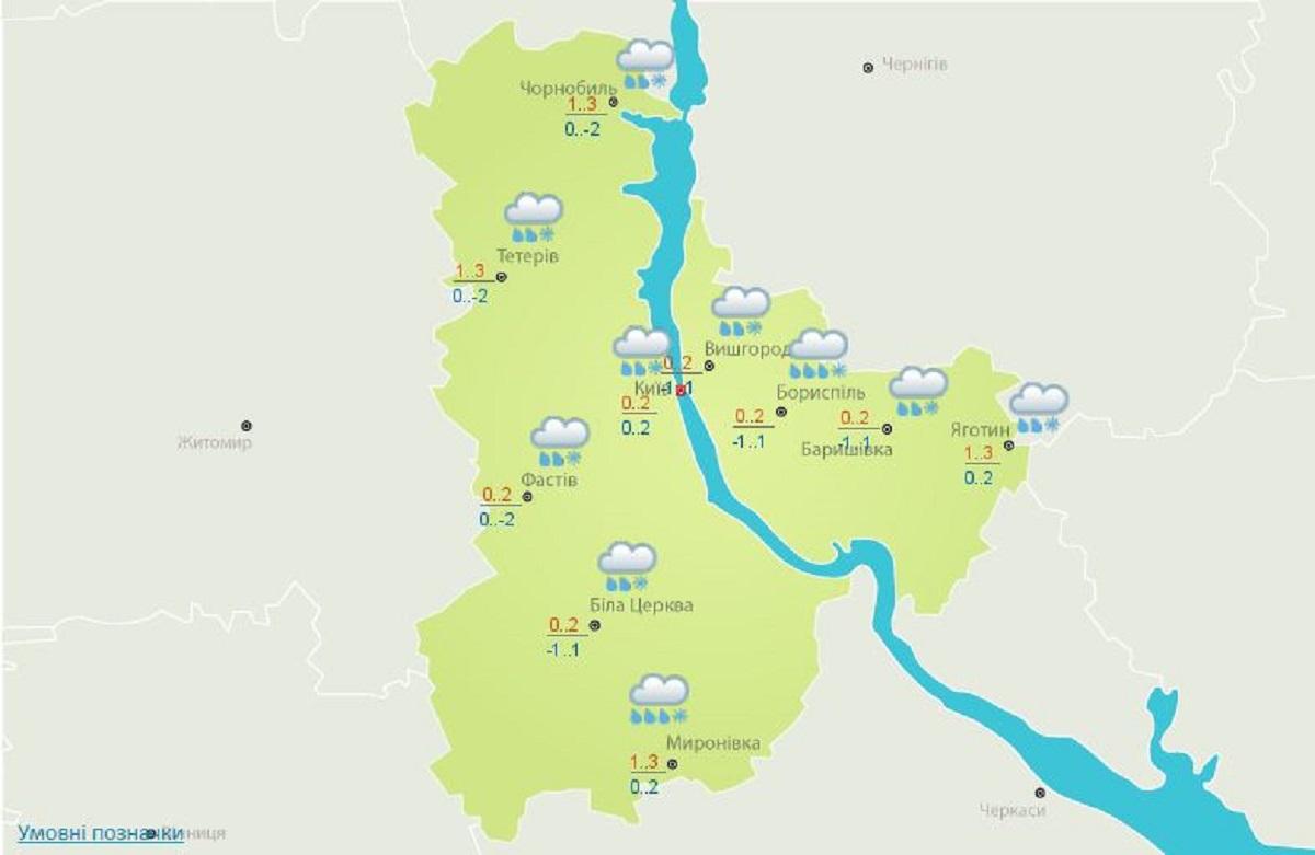 Погода в Киеве на 2 декабря