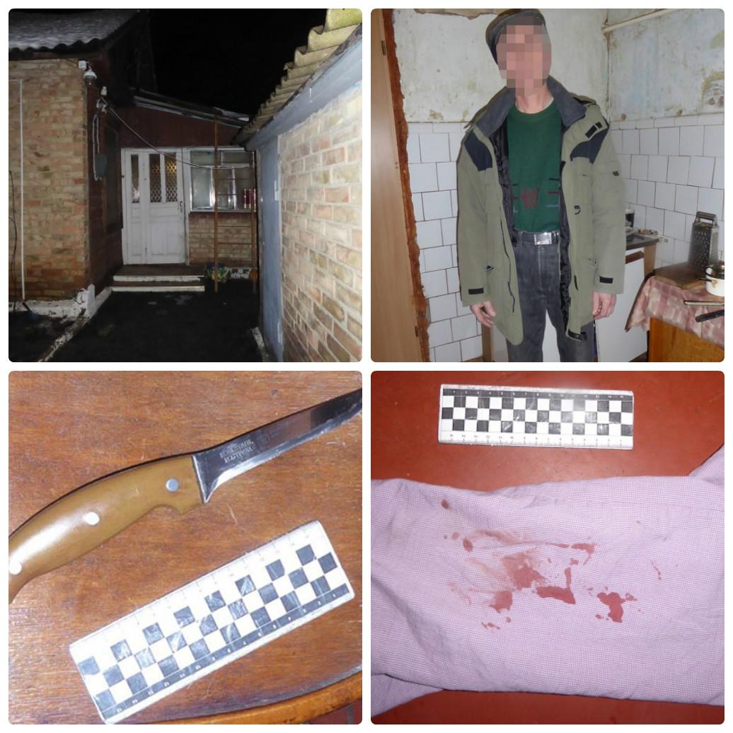 Задержанный 55-летний киевлянин нанес пасынку несколько ножевых ранений в живот