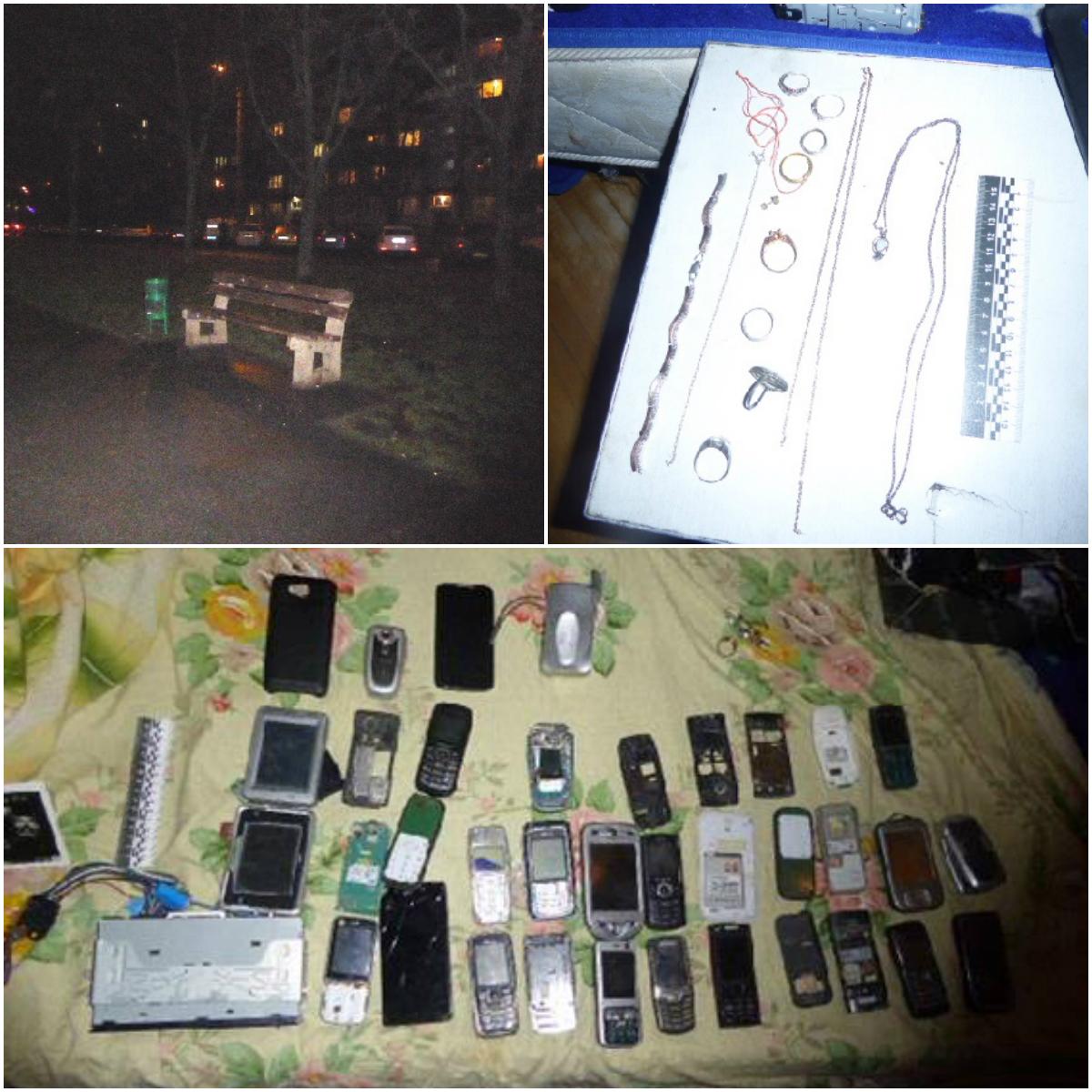 Дома у грабителя обнаружили более 20 старых мобильных телефонов ювелирные украшения