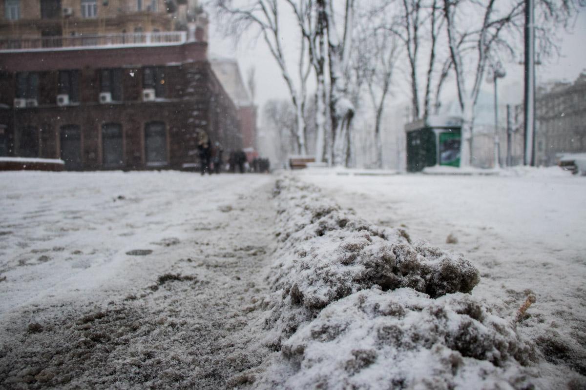 Снег, почему ты грязная слякоть?